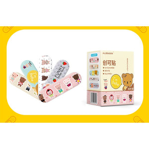 80PCS 5 Pattern Cartoon Band Aid Cute Water Resistant Breathable Bandages First Aid for Kids Children Emergency Kit