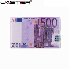 Load image into Gallery viewer, JASTER waterproof Super Slim Credit Card USB 2.0 Flash Drive 64GB pendrive 4GB 8GB 16GB 32GB bank card model Memory Stick u disk