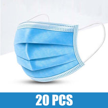 Load image into Gallery viewer, Lowest Price! 100pcs Face Mouth Anti dust Mask Disposable Protect 3 Layers Filter Dustproof 12-24 hours Shipping Towayer