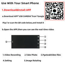 Load image into Gallery viewer, 7mm 5.5mm Endoscope Camera Flexible IP67 Waterproof Micro USB industrial Endoscope Camera for Android Phone PC 6LED Adjustable