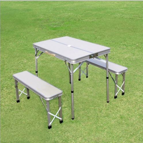 3Pcs Folding Table Desk Laptop Bed Lightweight Picnic Aluminum Alloy Camping BBQ Rain Proof Garden Sets Ultra Light Picnic Color
