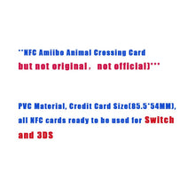 Load image into Gallery viewer, Animal Crossing Card Amiibo Card Work for NS Games Series 1 (031 to 060)