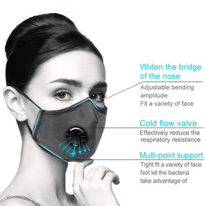 Anti PM2.5 Breathing Mask Cotton Haze Valve Anti-dust Mouth Mask Activated Carbon Filter Respirator Mouth-muffle Mask - Fresh Deals Shop
