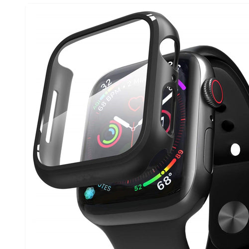 Watch case+Tempered Glass For Apple Watch 5 3 4 band iWatch 5 3 4 42mm 38mm protector case cover bumper applewatch 44mm 40mm