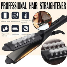 Load image into Gallery viewer, Hair Straightener Steam Flat Iron Four-Gear Hair Straightening Tourmaline Ceramic Professional Hair Straightener Styling Tool