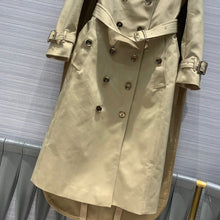 Load image into Gallery viewer, luxury runway elegant women streetwear X-long trench coat 2020 fall winter solid double breasted slim belt heavy overcoat S228