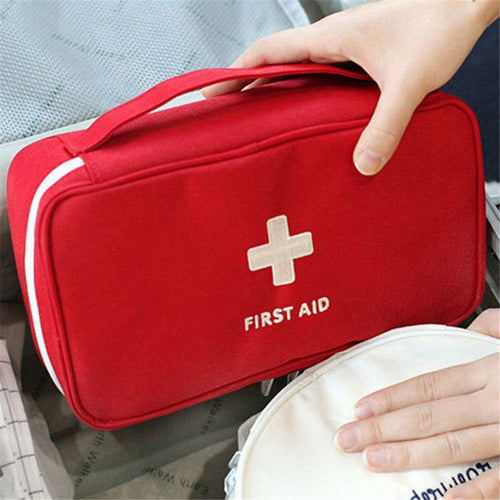 Portable Camping First Aid Kit Emergency pill Bag Storage Case Waterproof Car kits bag Outdoor Travel Survival kit Empty bag