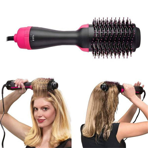 hot Hair Comb 1000W 2 In 1 Hair Straightener Curler Comb Professional Hair Dryer Brush  Electric Blow Dryer  Brush Roller Styler