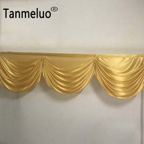 2M 3 swags gold wedding backdop drapery swags small table skirt swag for event party decoration