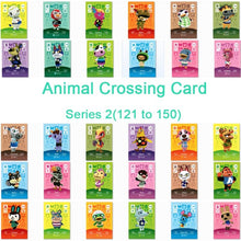 Load image into Gallery viewer, Animal Crossing Card Amiibo Card Work for NS Games Series 2 (121 to 150)