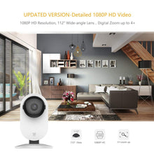 Load image into Gallery viewer, YI 1080p Home Camera Indoor Security Camera Surveillance System with Night Vision for Home/Office/Baby/Nanny/Pet Monitor White
