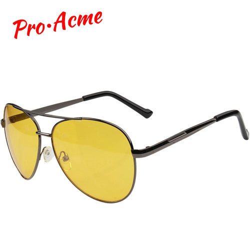Pro Acme Pilot Night Vision glasses Driving Yellow Lens Classic Anti Glare Vision Driver Safety glasses For Men CC0101