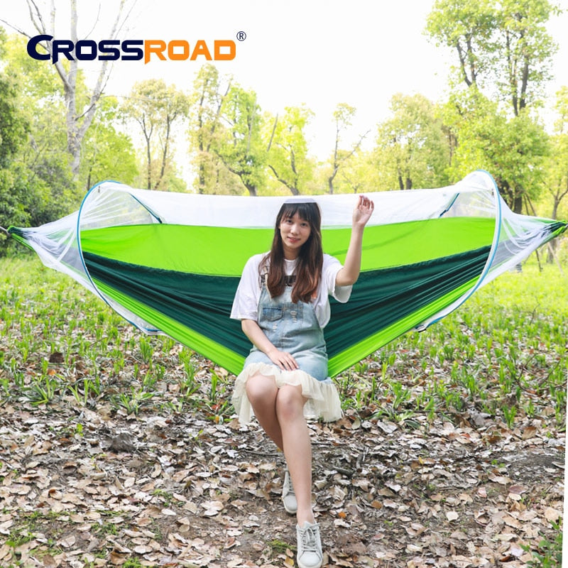 Camping Hammock 2 Person Outdoor Garden Portable Double Hanging Bed Swing Chair