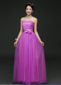 Popodion Flower Prom Dresses Long Tulle Party-dress Gowns Banquet Party Prom Dresses Graduation Dresses PRO30030-1