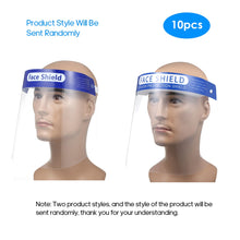 Load image into Gallery viewer, 10PCS Full Face Masks Anti-droplets Anti-fog Dust-proof Face Shield Protective Cover Transparent Face Eyes Protector Safety Mask