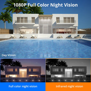 1080P 2MP 4MP  WIFI IP Camera Outdoor ONVIF Wireless Waterproof Camera App Alarm Color Night Vision TF Card Hiseeu