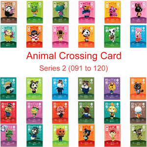 Series 2 (091 to 120) Animal Crossing Card Amiibo Card Work for NS 3D Games New Horizons Molly Blanca Muffy Roald Villager Card