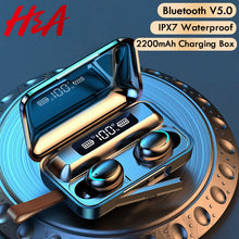 Load image into Gallery viewer, H&A Bluetooth V5.0 Earphones Wireless Headphones With Microphone Sports Waterproof Headsets 2200mAh Charging Box For iOS Android