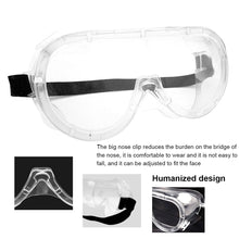 Load image into Gallery viewer, Safety Protective Goggles Glasses Transparent Lens Goggles Prevent Infection Eye Mask Anti-Fog Splash Goggles
