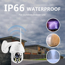 Load image into Gallery viewer, Wireless Wifi IP Camera 1080P PTZ  Outdoor Speed Dome Security Camera Pan Tilt 4X Digital Zoom Network CCTV Surveillance