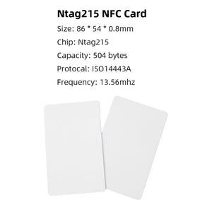 50pcs Ntag215 NFC Card Ntag 215 Chip Tag For Making Animal Crossing new horizons Amiibo TagMo Forum Type2 NFC Tags Free Shipping