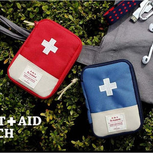 Empty First Aid Bag Emergency Pouch Travel Medicine Pill Storage Bags Outdoor Survival Organizer Portable Travel Medine Divider