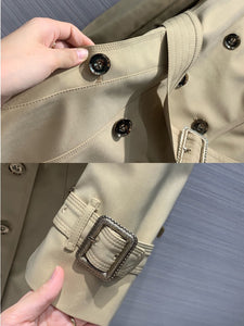 luxury runway elegant women streetwear X-long trench coat 2020 fall winter solid double breasted slim belt heavy overcoat S228