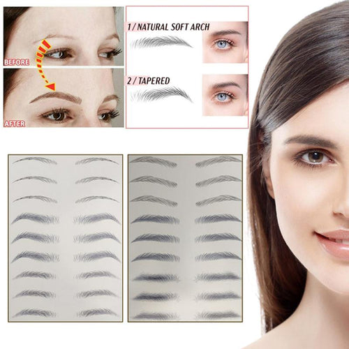 NEW 6D Simulated Ecological Tattoo False Eyebrow Sticker 4D Waterproof Semi-Permanent Natural Eyebrow Paste Makeup Tool Female
