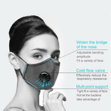 Load image into Gallery viewer, 1pcs Reusable Mask Breathable Sponge Face Mask mascarillas masque Reusable Face Shield Mouth Cover With filter Face Mask