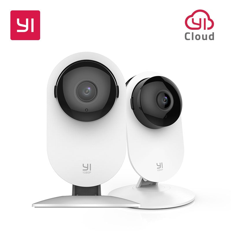 YI 1080p Home Camera Indoor Security Camera Surveillance System with Night Vision for Home/Office/Baby/Nanny/Pet Monitor White