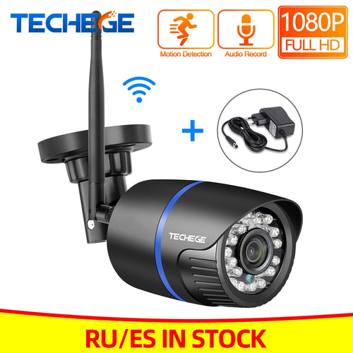 Techege 1080P WIFI IP Camera Audio Record 2.0MP Wireless Camera Outdoor Onvif Night Vision Waterproof Camera TF Card RU ES Stock