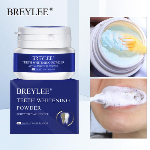 BREYLEE Teeth Whitening Powder Toothpaste Dental Teeth Cleaning Oral Hygiene Remove Plaque Tooth Whiten Brighten Powder TSLM1