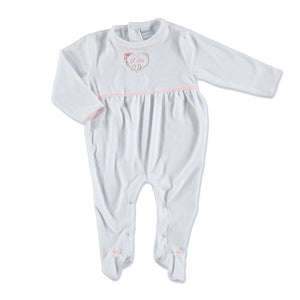 ebebek HelloBaby Little Flowers Baby Embroidered Footed Romper