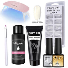 Load image into Gallery viewer, 14pcs/kit Poly Gel Kits 30g French Nail Art Clear Camouflage Color Nail Tip Form Crystal UV Gel Polygel Slice Brush Nail Gel - Fresh Deals Shop
