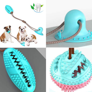 Pet Dog Toys Silicon Suction Cup Tug dog toy Dogs Push Ball Toy Pet Tooth Cleaning Dog Toothbrush for Puppy large Dog Biting Toy