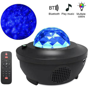 Colorful Starry Sky Projector Blueteeth USB Voice Control Music Player LED Night Light USB Charging Projection Lamp Kids Gift - Fresh Deals Shop