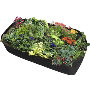 1PC Fabric Raised Garden Bed Rectangle Breathable Planting Container Growth Bag Home Garden Supplies