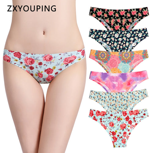 Print Mesh Breathable Seamless Panties Underwear Sexy Thongs - Fresh Deals Shop