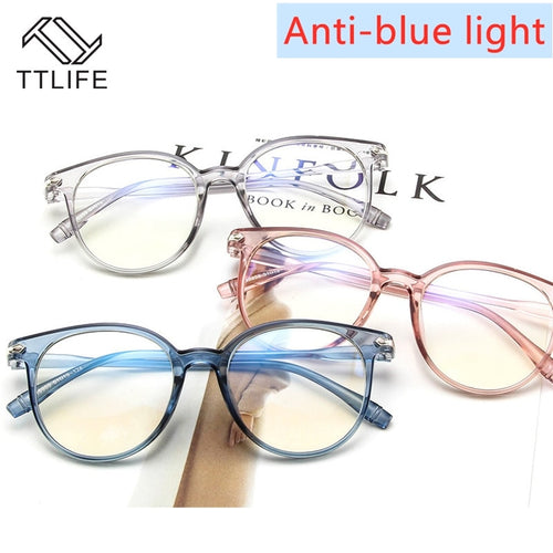 TTLIFE Blue Light Blocking Spectacles Anti Eyestrain Decorative Glasses Light Computer Radiation Protection Eyewear YJHH0306 - Fresh Deals Shop