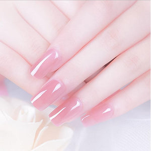 14pcs/kit Poly Gel Kits 30g French Nail Art Clear Camouflage Color Nail Tip Form Crystal UV Gel Polygel Slice Brush Nail Gel - Fresh Deals Shop