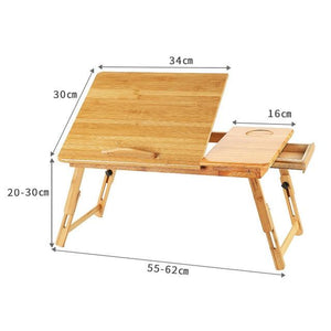 Adjustable Bamboo Computer Stand Laptop Desk Notebook Desk Laptop Table For Bed Sofa Bed Tray Picnic Table Studying Table - Fresh Deals Shop