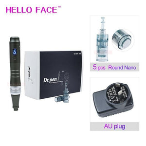 Dr pen Ultima M8 With 7 pcs Cartridges Wireless Derma Pen Skin Care Kit Microneedle Home Use Beauty Machine - Fresh Deals Shop