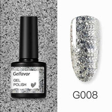 Load image into Gallery viewer, Gelfavor 8ml Gel Nail Polish Glitter For Manicure set nail art Semi platium UV LED Lamp Nail varnishes Base top coat Gel lacquer - Fresh Deals Shop
