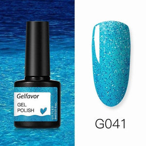 Gelfavor 8ml Gel Nail Polish Glitter For Manicure set nail art Semi platium UV LED Lamp Nail varnishes Base top coat Gel lacquer - Fresh Deals Shop