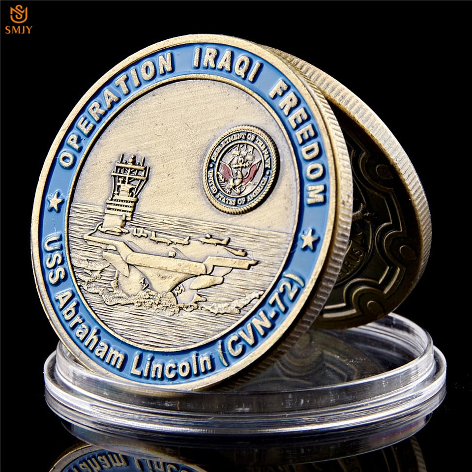 USA Archangel Law Enforcement Sanit George Pray And Free Uss Abraham Lincoln (cvn-72) Military Challenge Coin Collection