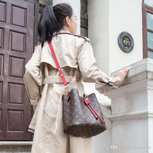 Newest Fashion Bucket Summer Women Genuine Leather Shoulder Bag Lady Soft Real Leather Cross Bag Simple Messenger Red Bag