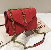 Load image into Gallery viewer, Temperament Joker Inclined Shoulder Bag Handbags New Korean Fashion Chain Soft Leather Embroider Small Square Messenger Winter