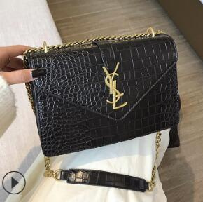 Temperament Joker Inclined Shoulder Bag Handbags New Korean Fashion Chain Soft Leather Embroider Small Square Messenger Winter