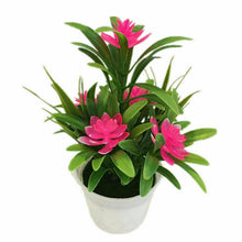 Load image into Gallery viewer, Outdoor Flower Fake False Plants Flowers Artificial Garden Decor w/ Pot 11x18cm