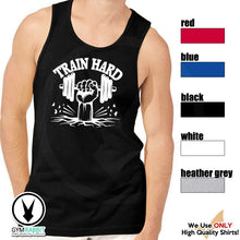 Load image into Gallery viewer, TRAIN HARD Gym Rabbit Men Muscle Sleeveless Workout Fitness Tank E746